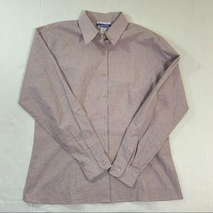 Women's Pendleton Button Front Shirt Purple 12